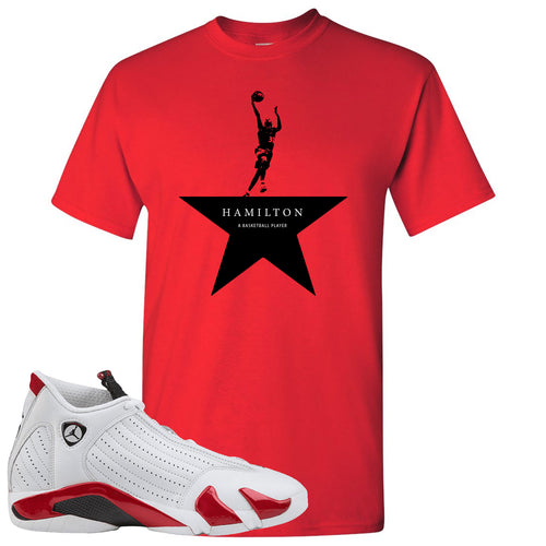 Jordan 14 Rip Hamilton Basketball Star Red T-Shirt
