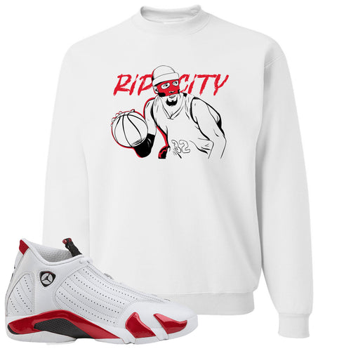 "Jordan 14 Rip Hamilton Richard Clay ""Rip"" Hamilton White Crewneck Sweater"