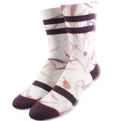 Stance Women's Sized Purple Leaves High Socks