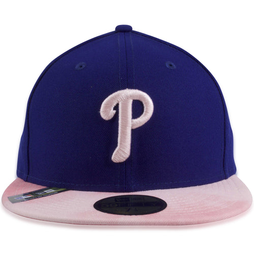 Philadelphia Phillies 2019 Mother's Day Blue on Pink 59Fifty Fitted Cap