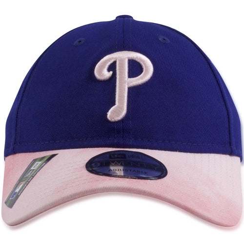 Philadelphia Phillies 2019 Mother's Day Blue on Pink Tie Dye 9Twenty Dad Hat