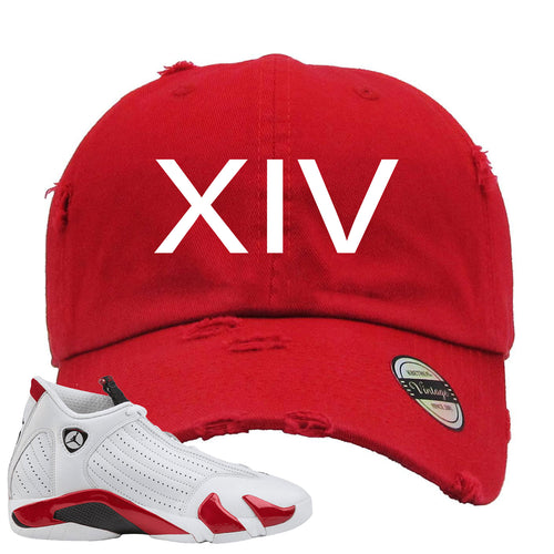 Jordan 14 Rip Hamilton XIV Red Distressed Dad Hat