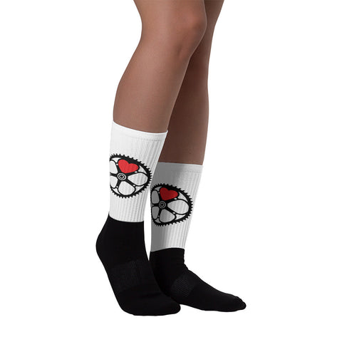 chainring heart socks