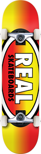 REAL SKATEBOARDS OVAL FADES COMPLETE-7.7 YEL/RED