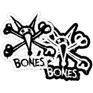 "Bones Wheels Sticker: Vato Logo 4"" Stickers- Edge Boardshop"