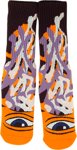 TOY MACHINE BARF SECT CREW SOCKS ORANGE 1 pair