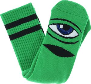 TOY MACHINE SECT EYE III CREW SOCKS-KELLY GREEN 1 pair
