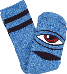 TOY MACHINE SECT EYE HEATHER CREW SOCKS-BLUE 1pr