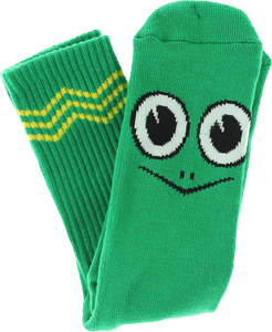TOY MACHINE TURTLE BOY CREW SOCKS-GREEN 1 pair