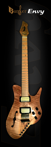 Guitar With Tuner On the Body Bunker Envy