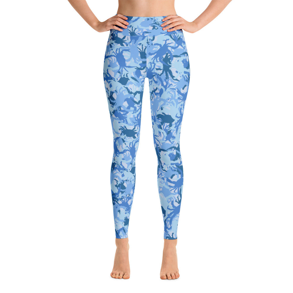 Blue Crab Camo Yoga Leggings