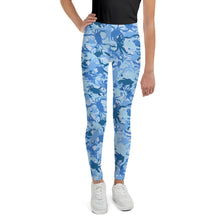 Youth Blue Crab Camo Leggings