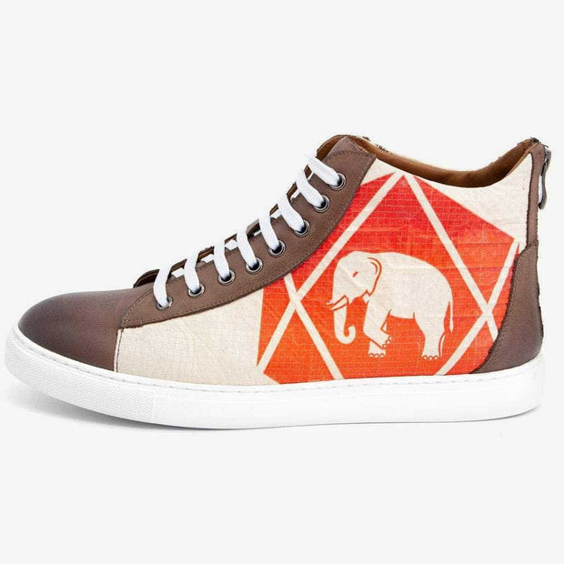 Recycling Sneaker High - Red Elephant - 17
