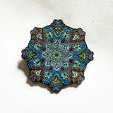 "5 Pairs of V3 & V4 Whitaker's ""Blooming Lotus"" LE175 2"" Mandala Hat Pins - The Mad Genius Store"