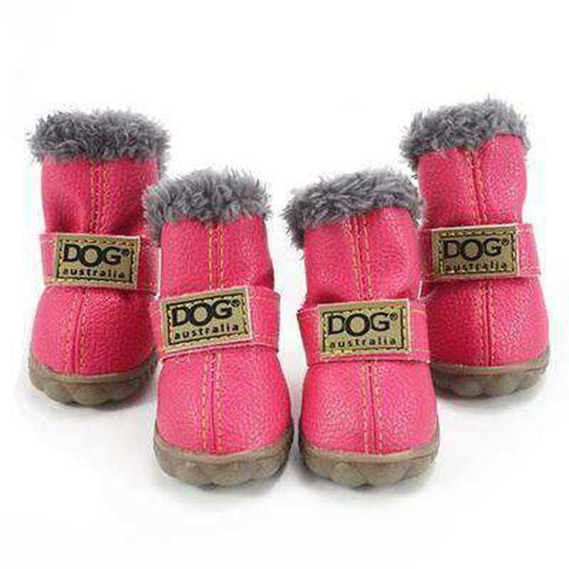 Waterproof Dog Ugg Boots - Brown, Black, Pink, Blue Pet Clothes Oberlo Pink 4