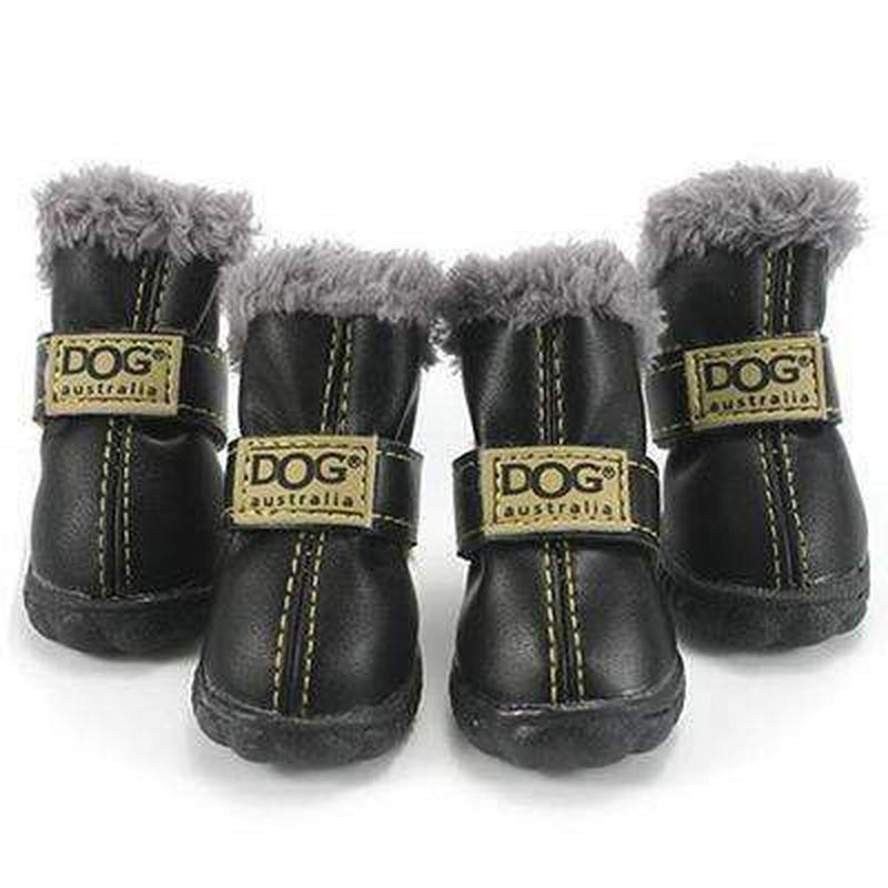 Waterproof Dog Ugg Boots - Brown, Black, Pink, Blue Pet Clothes Oberlo Black 2