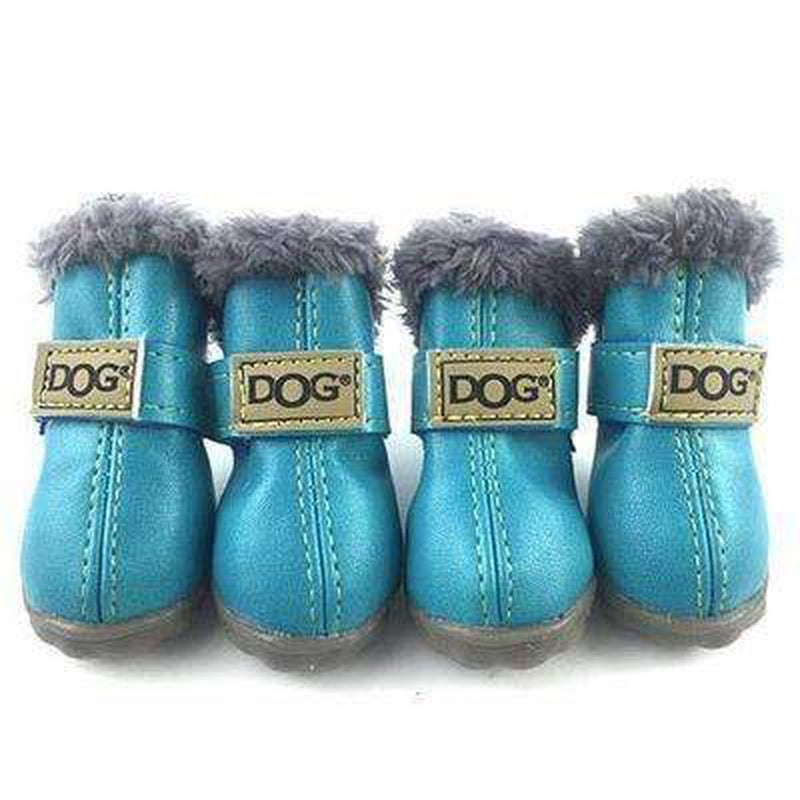 Waterproof Dog Ugg Boots - Brown, Black, Pink, Blue Pet Clothes Oberlo Blue 2