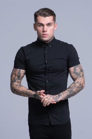 Mens Judas Sinned Smart Short Sleeved Disciple Men's Shirt - Black (Shirts) - Judas Sinned Clothing