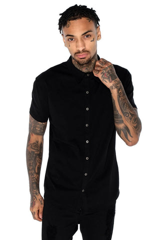 Mens Judas Sinned Superstretch Jersey Men's Shirt - Black (SHIRT) - Judas Sinned Clothing