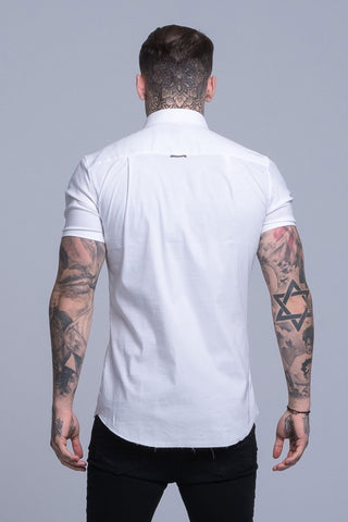 Mens Judas Sinned Smart Short Sleeved Disciple Men's Shirt - White (Shirts) - Judas Sinned Clothing