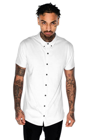 Mens Judas Sinned Superstretch Jersey Men's Shirt - White (SHIRT) - Judas Sinned Clothing
