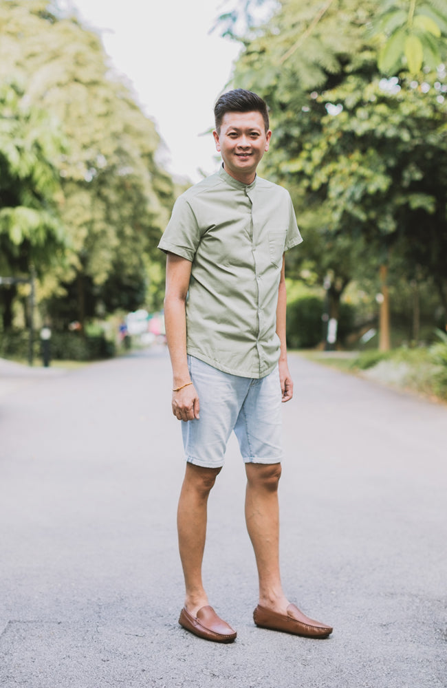 2 Way Print Shirt - Green (Daddy)