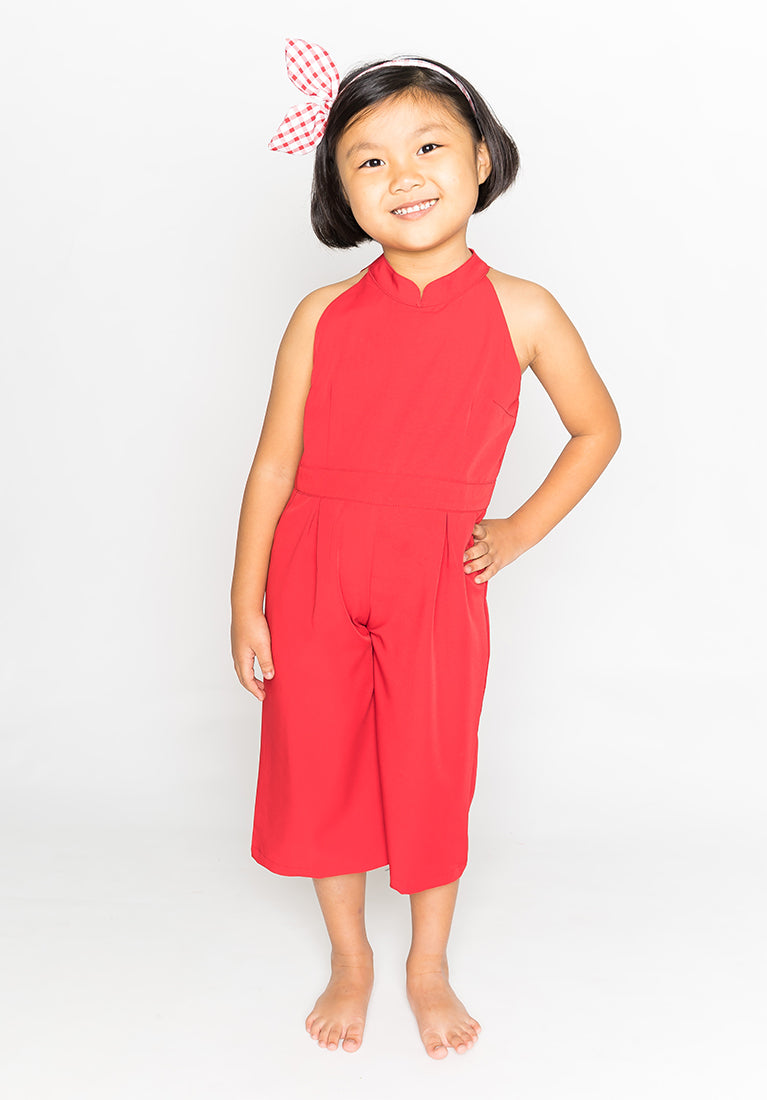 CHEONGSAM JUMPSUIT - RED