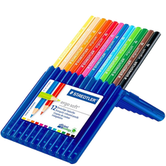 Staedtler Ergosoft 157 SB24 Triangular Colouring Pencils Assorted Colours