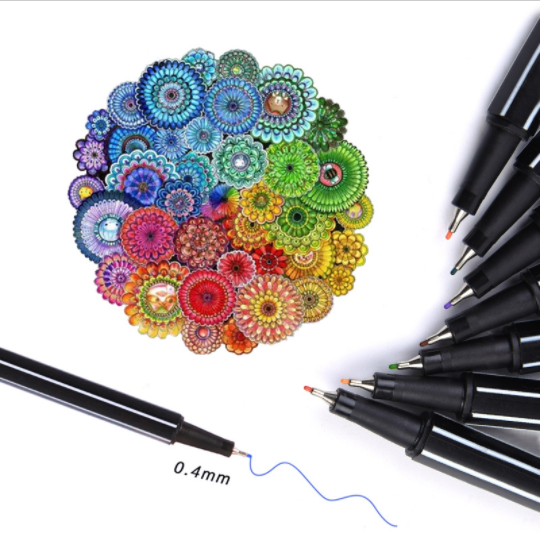 Fineliner Brilliant Pens (36 Colours Pack) - Shakespurr
