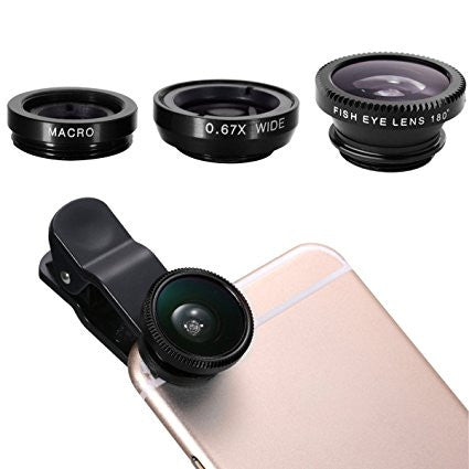 3 in 1 Universal Smartphone Lens For iPhone, Samsung, Nokia, iPad - Shakespurr