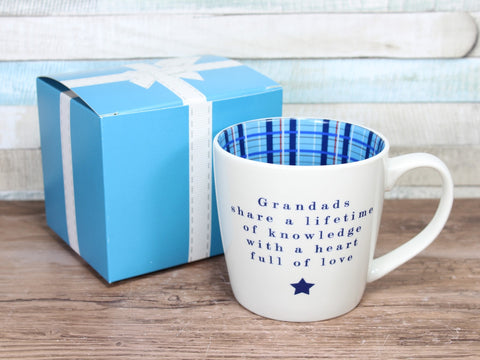 Grandads Share A Lifetime Of Knowledge - Inside Out Mug Gift Boxed