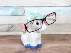 Turquoise Blue Unicorn Glasses Holder
