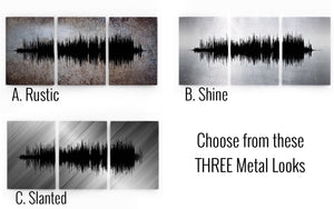 Large Metal Wall Art, Sound Wave, Contemporary Metal Wall Art | METAL