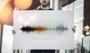 Modern Soundwave Print on Cotton Canvas | CANVAS