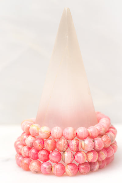 Medium Rhodochrosite Bracelet - Sacred Light Soundbaths and Crystals