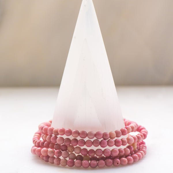 Rhodonite Dainty Bracelet - Sacred Light Soundbaths and Crystals