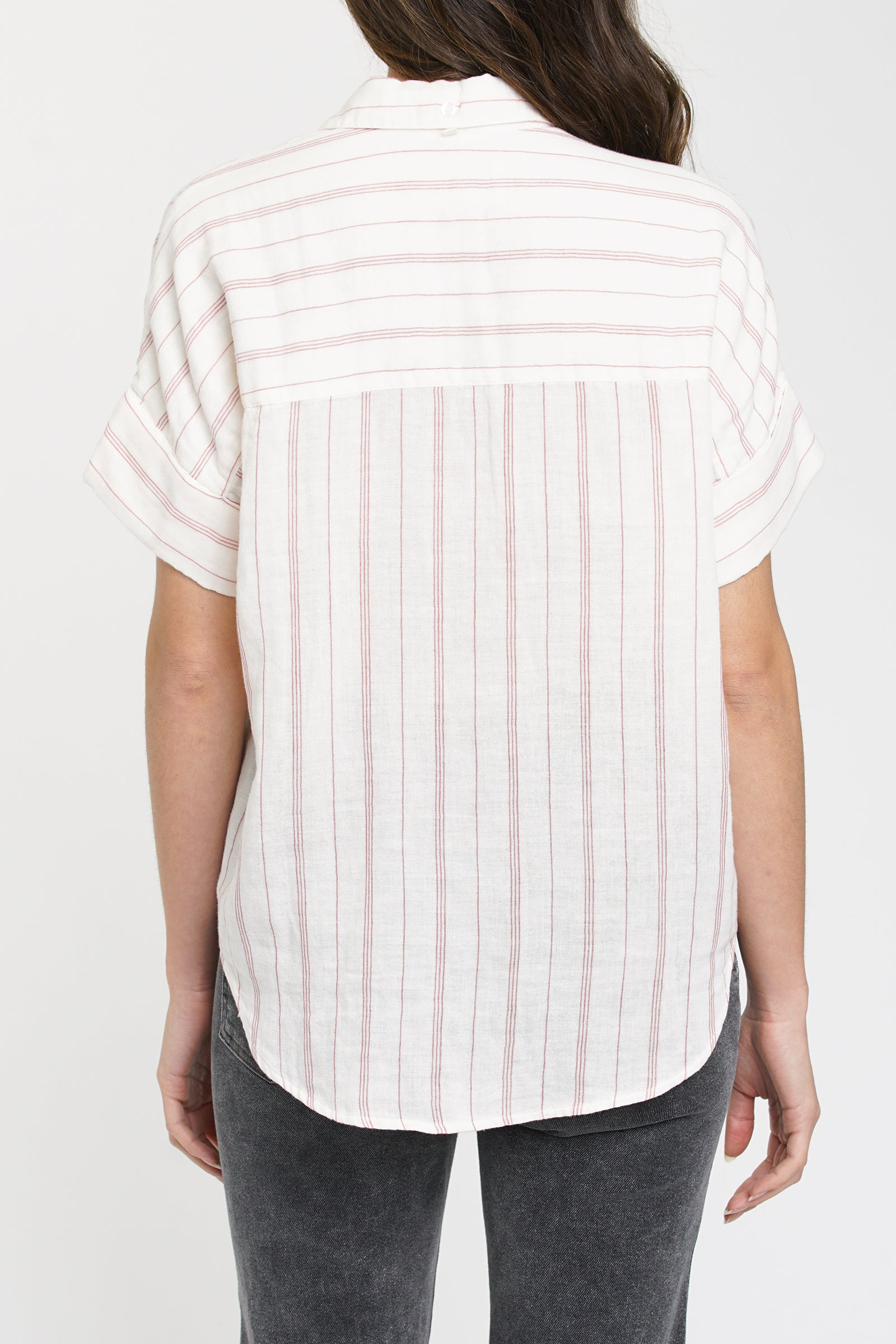 Avery Short Sleeve Button Up Shirt - Manchester Stripe