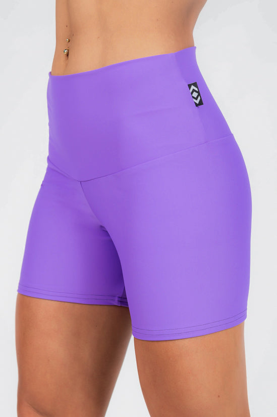 (R2W) Performance High Waisted Long Booty Shorts - Purple, READY TO WEAR - exoticathletica - australian made activewear & swimwear