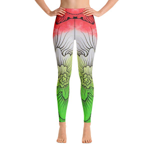 Dynamic Thought Flower # 5 - Yoga Leggings