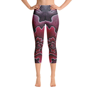 Dynamic Thought Flower 3 - Yoga Capri Leggings