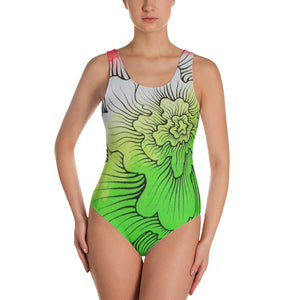 Dynamic Thought Flower # 5 - One-Piece Swimsuit
