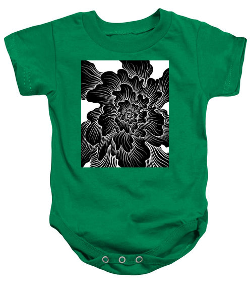 Static Thought Flower - Baby Onesie