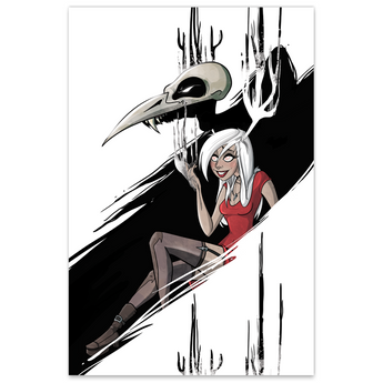 Necrowmancer - Monsters & Dames - ECCC 2016 Con Exclusive - LTD 12x18 Print (Metallic Linen)