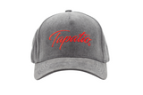 Tapatio Red Script Hat in Grey