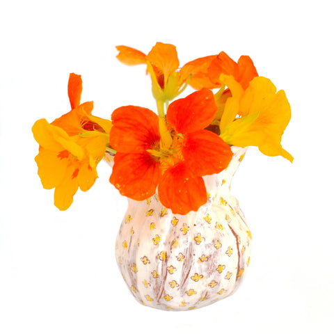 Flower Bud Vase - Yellow Floral Design