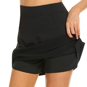 Anti-Chafing Active Skort Skirt InspirExpress S Black