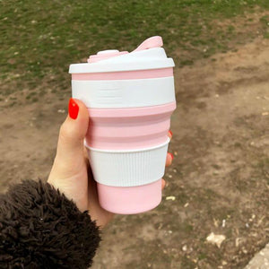 Silicon Reusable Cup Cup InspirExpress Pink