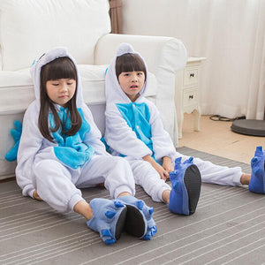 Unicorn Onesie Pajamas Pajamas InspirExpress 4T Blue
