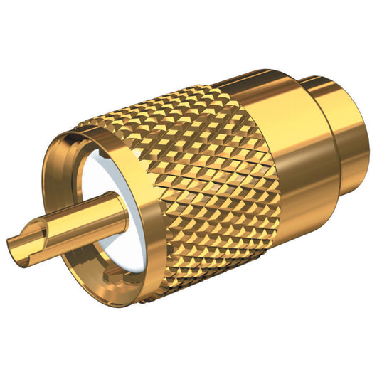 Shakespeare PL-259-8X-G Solder-Type Connector w/UG176 Adapter & DooDad® Cable Strain Relief f/RG-8X Coax