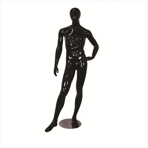 Male Fiber Glass Mannequin with Right Leg Out WHITE
